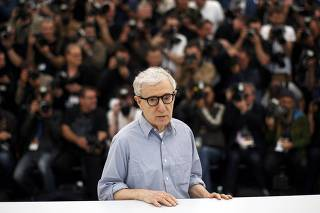 Director Woody Allen poses during a photocall for the film