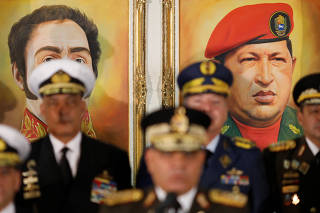 Venezuela's Defense Minister Vladimir Padrino Lopez holds a news conference in Caracas