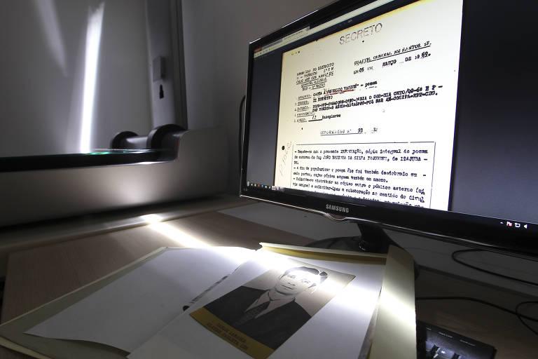 Documento digitalizado do extinto Dops, órgão de repressão da ditadura militar