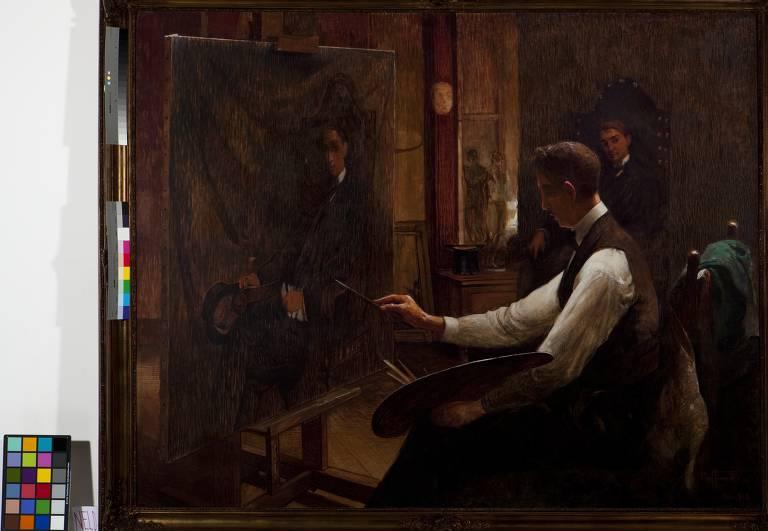 Obra que compõem a exposição 'Trabalho de Artista: Imagem e Autoimagem (1826-1929) na Pina Luz