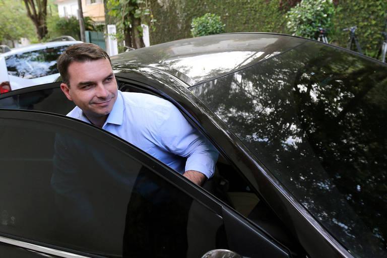 O senador eleito e deputado estadual Flávio Bolsonaro