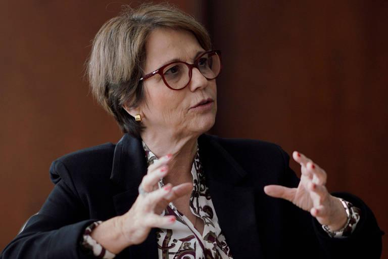 Tereza Cristina, ministra da agricultura, em entrevista em Brasília