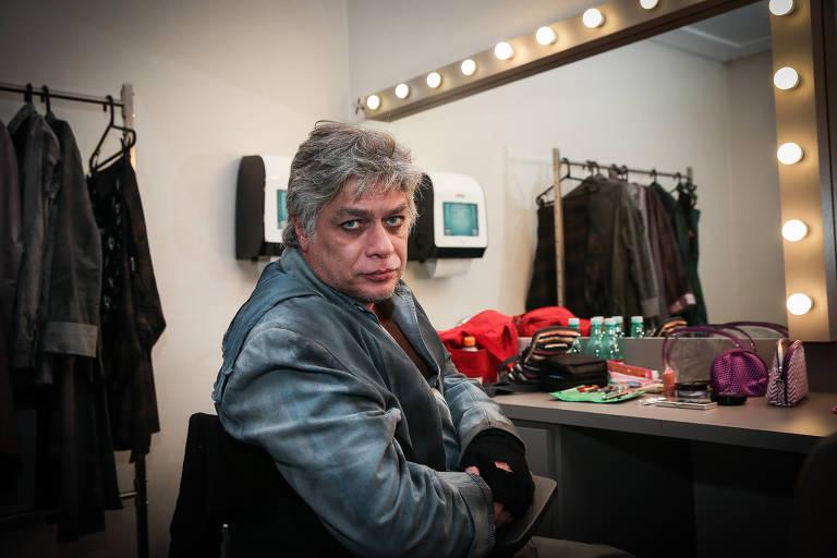 Fábio Assunção na pré-estreia da peça Dogville, em São Paulo