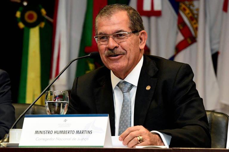 Corregedor do CNJ (Conselho Nacional de Justiça), ministro Humberto Martins, do STJ (Superior Tribunal de Justiça).