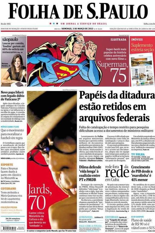 Manchete do jornal que utilizou informação da Lei de Acesso