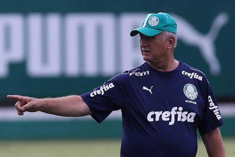 Felipão comanda treino do Palmeiras