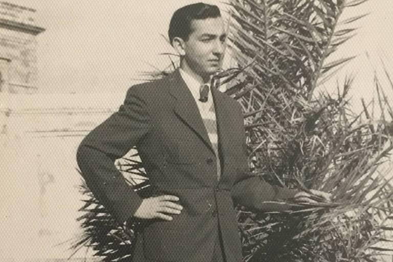 Sobrevivente do Holocausto Jorge Klainman em 1947
