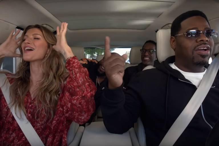 Gisele Bündchen e Boyz II Men no 'Carpool Karaoke'