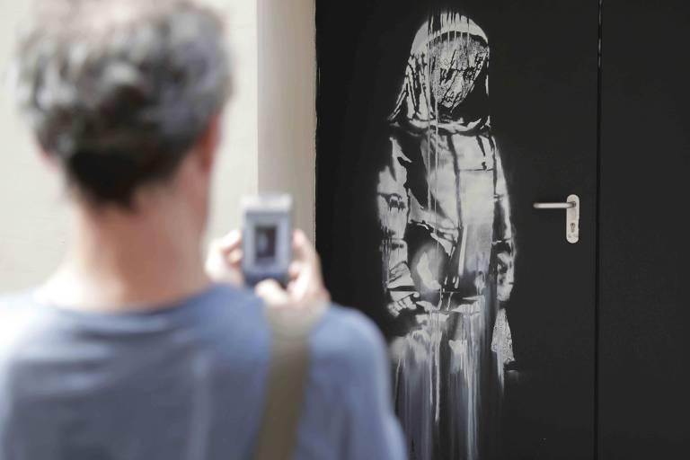 Arte de Banksy roubada em Paris