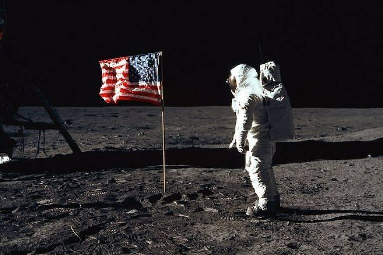 Buzz Aldrin na Lua em 1969: 'uma desolação magnífica', disse ele