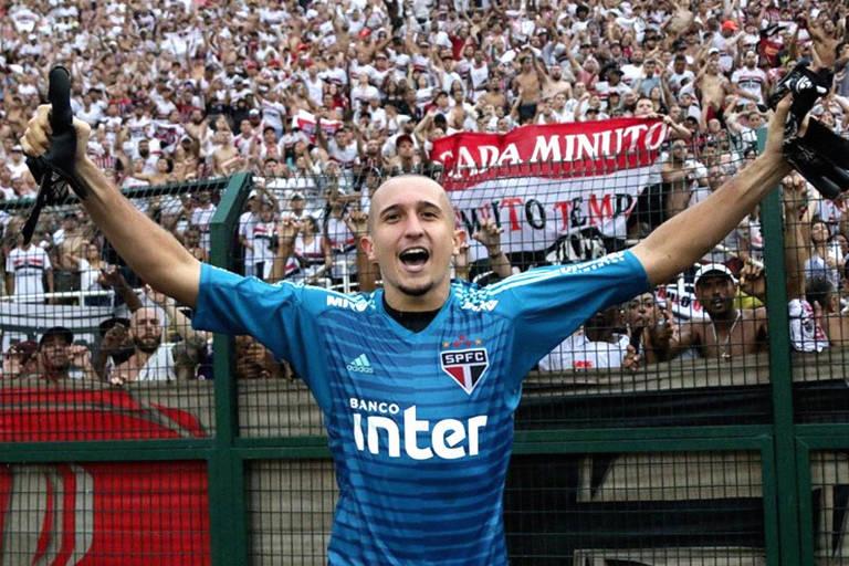 Thiago Couto comemora conquista da Copa São Paulo