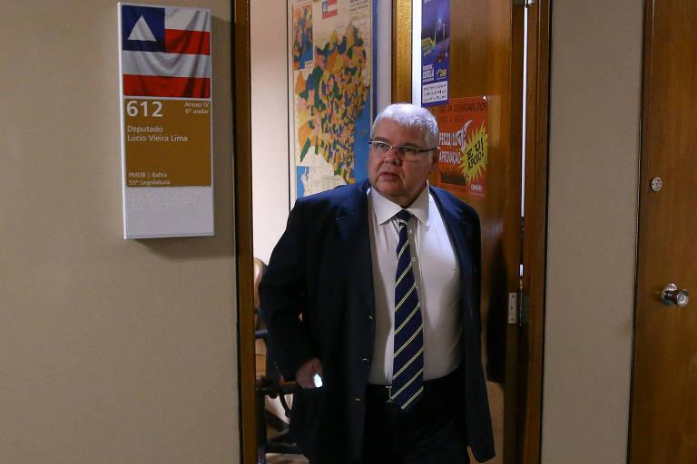 O deputado Lúcio Vieira Lima (MDB-BA), irmão do ex-ministro Geddel Vieira Lima, denunciado pela PGR sob acusação de corrupção passiva