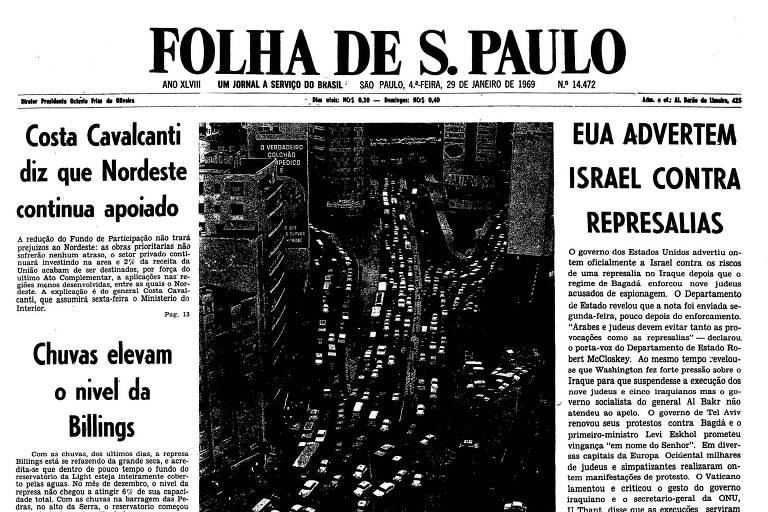 1969: Após execuções no Iraque, EUA advertem Israel sobre represálias