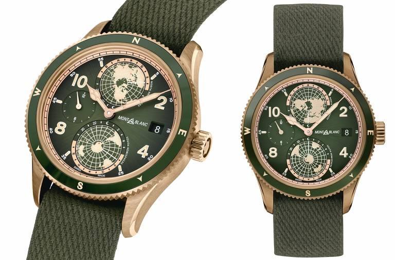 Relógio 1858 da Montblanc. Feito em oficina de manufatura em Villeret e Le Locle, foi lançado na feira SIHH 2019, em Genebra, na Suíça