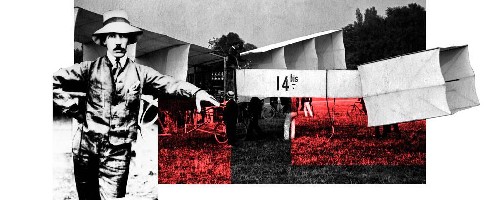 Montagem da Cartier para relançar o relógios Santos Dumont, primeiro acessório de pulso da história dado de presente por Louis Cartier ao aviador brasileiro