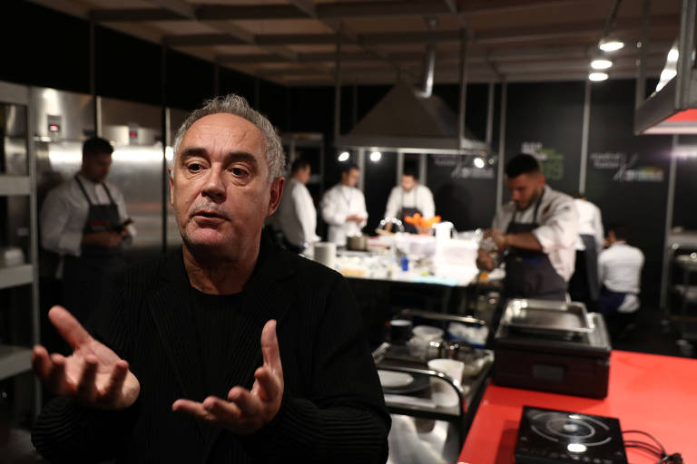 O chef Ferrán Adrià durante o evento Madrid Fusion, na capital espanhola