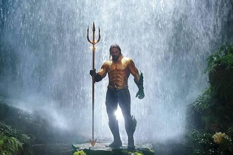 Cena do filme 'Aquaman' protagonizado por Jason Momoa
