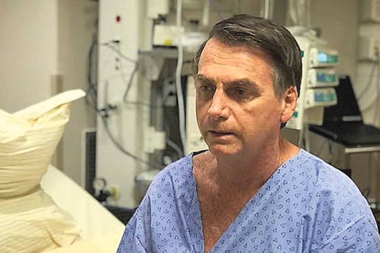 Internado para cirurgia, Jair Bolsonaro grava vídeo no hospital e agradece orações