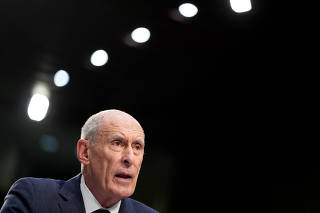 Director of National Intelligence Dan Coats testifies to the Senate Intelligence Committee hearing about