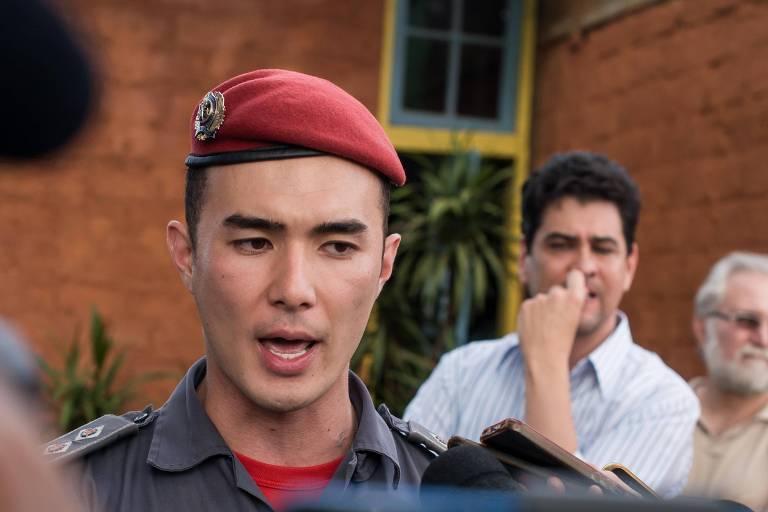 O tenente do Corpo de Bombeiros de MG Pedro Aihara