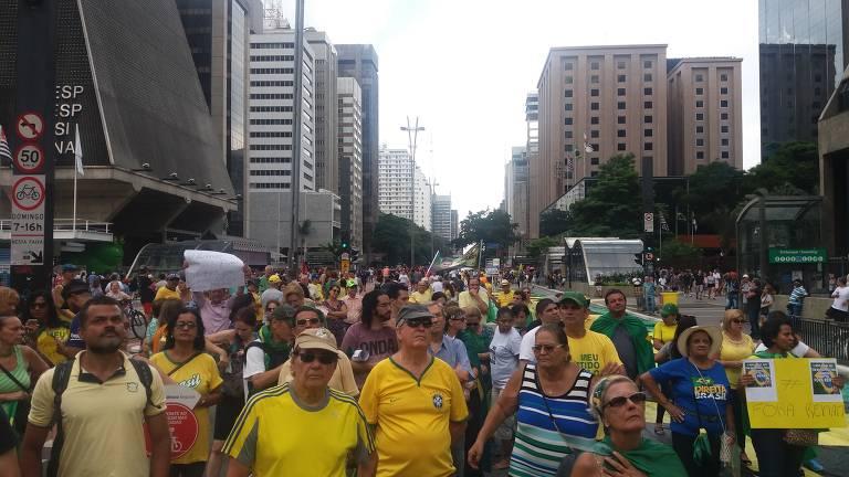 Protesto contra Renan Calheiros em São Paulo
