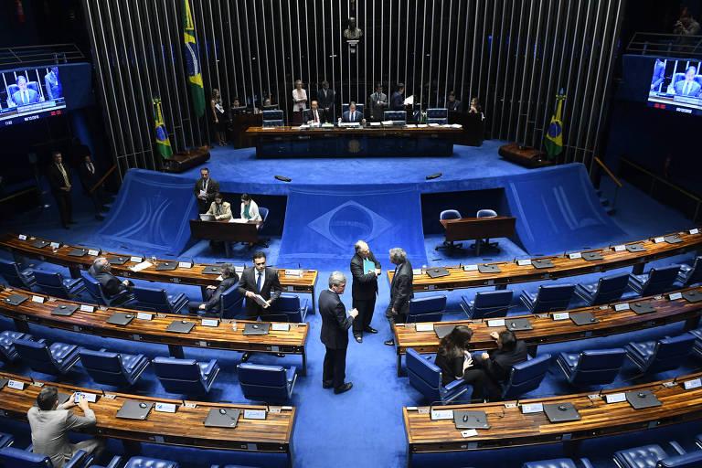 Plenário do Senado durante sessão deliberativa extraordinária. PSD se tornou a segunda maior bancada da Casa, atrás apenas do MDB
