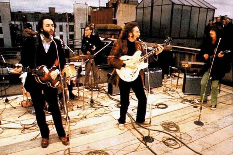 Show dos Beatles no telhado da Apple Studios, em Londres