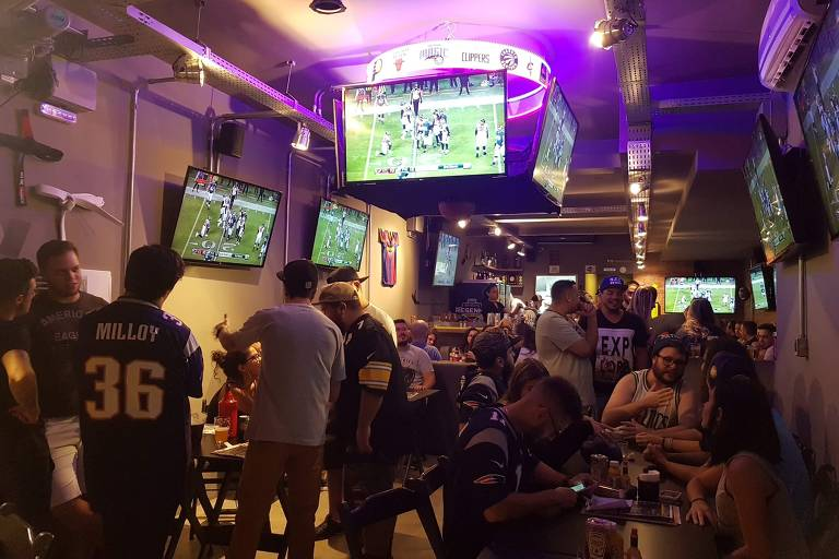Ambiente do Resenha Sports Bar