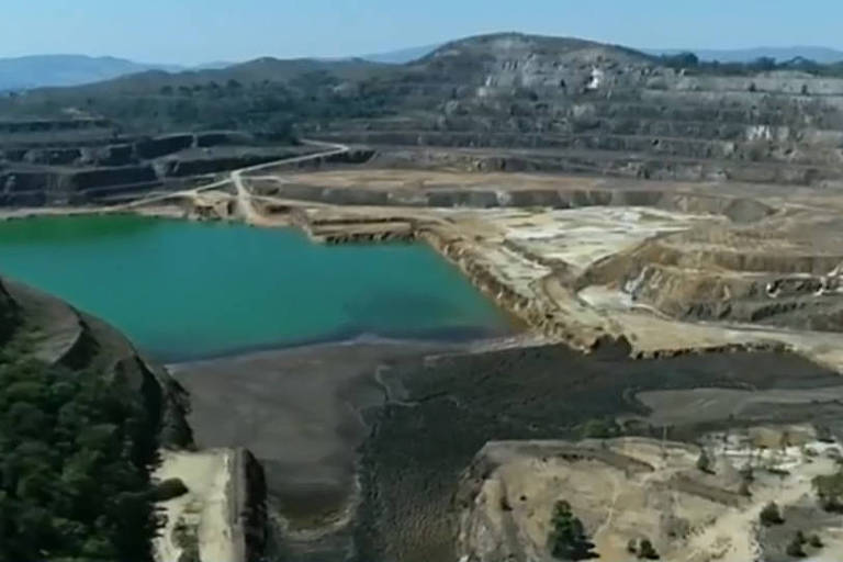 Barragem em Caldas (MG) que acumulam resíduos nucleares e foram fiscalizadas pela prefeitura