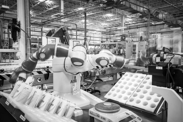 Robô utilizado em unidade da Unilever em Aguaí (SP)