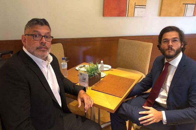 Os deputados Alexandre Frota (PSL) e Túlio Gadêlha (PDT) se encontram em Brasília antes de tomarem posse