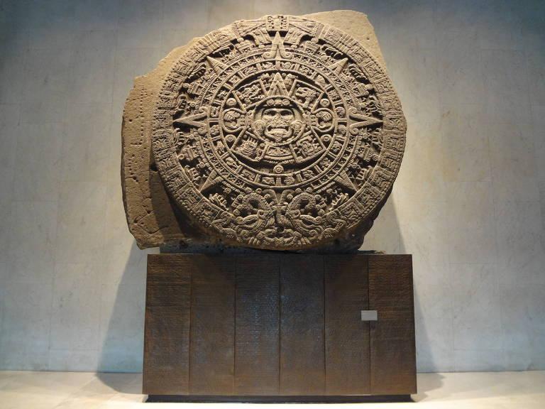 A Pedra do Sol, relíquia exposta no Museu Nacional de Antropologia