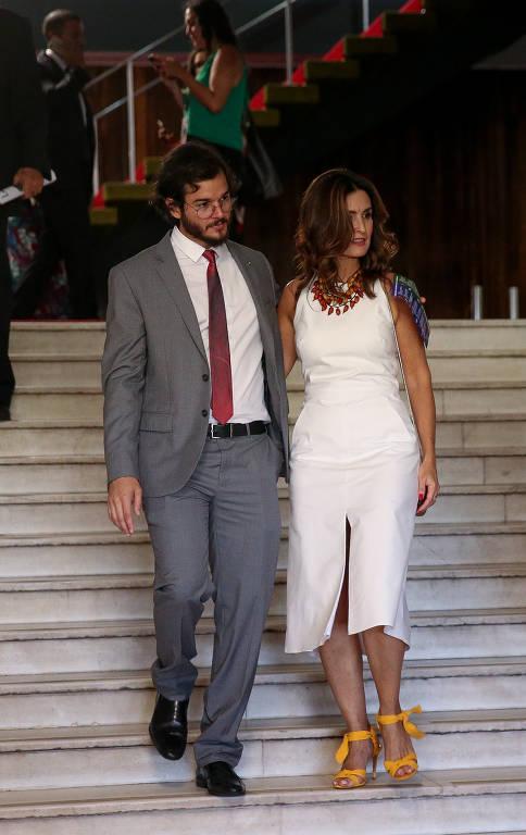 Fátima Bernardes e namorado Túlio Gadêlha