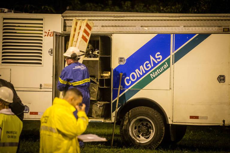 Equipe da Comgás em São Paulo; tarifas foram reajustadas