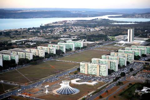 BRASILIA , DF , 22.07.2015 , BRASIL ,  Vista aérea da Esplanada dos Ministérios em Brasília-DF. Foto: Ana Volpe/ Agência Senado  Foto: Ana Volpe/Agência Senado