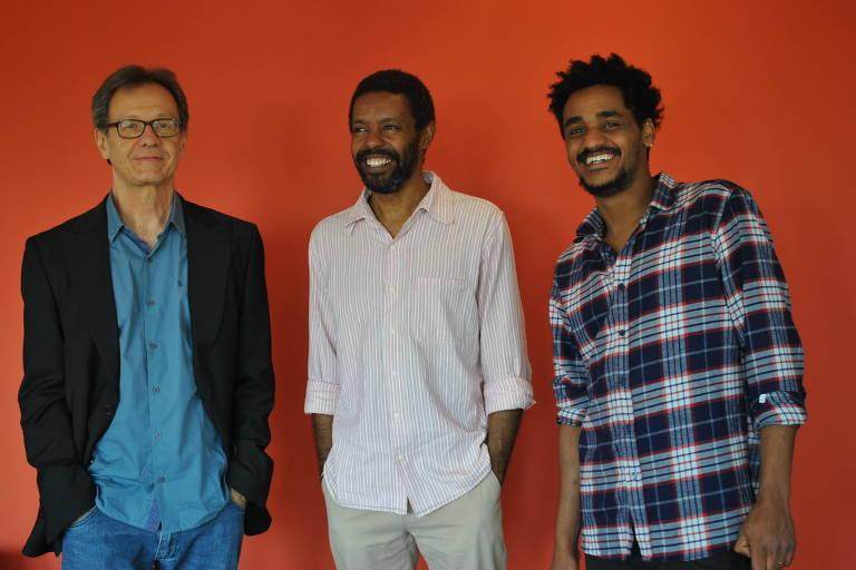 Da esquerda para a direita, o Tabarana Trio: Fernando Barros, Denilson Oliveira e Fernando Mumu
