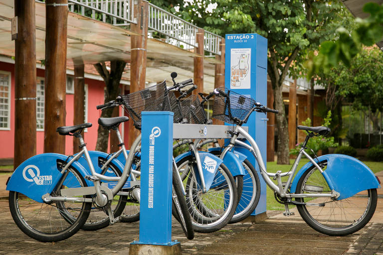 Bicicletas de compartilhamento no PTI (Parque Tecnológico de Itaipu)