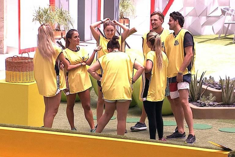 Grupo amarelo vence a primeira prova da comida no BBB 19
