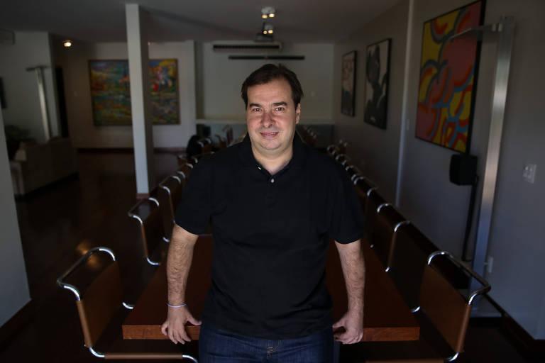 O presidente da Câmara dos Deputados Rodrigo Maia (DEM-RJ), que foi reeleito para um terceiro mandato