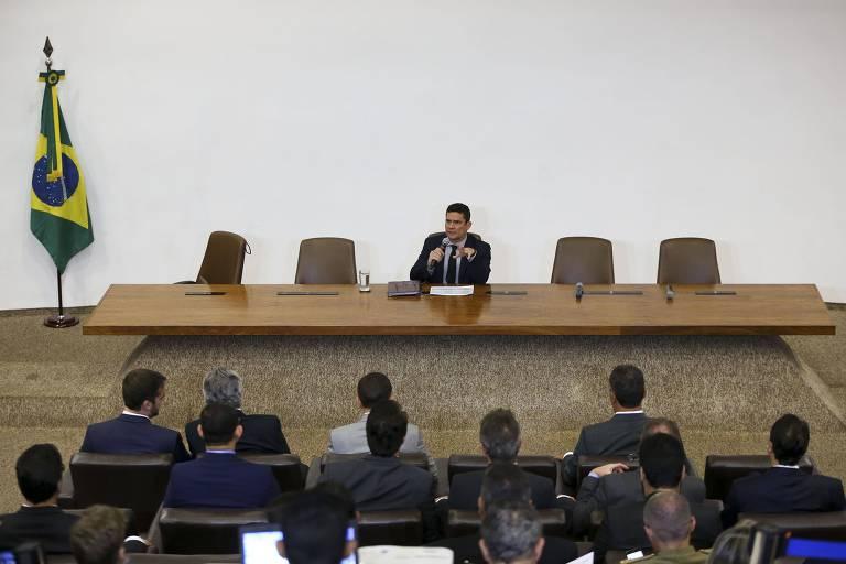 O ministro da Justiça e Segurança Pública, Sergio Moro, se reúne com governadores e secretários estaduais de Segurança Pública para apresentar o Projeto de Lei Anticrime
