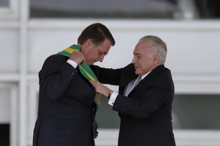 O ex-presidente Michel Temer, que teve denúncias e inquérito enviados para a primeira instância