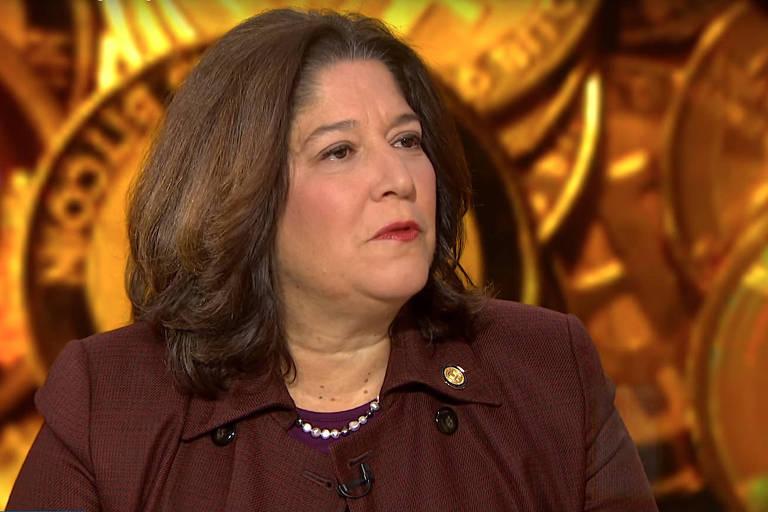 Maria Vullo, a superintendente do Departamento de Serviços Financeiros de Nova York