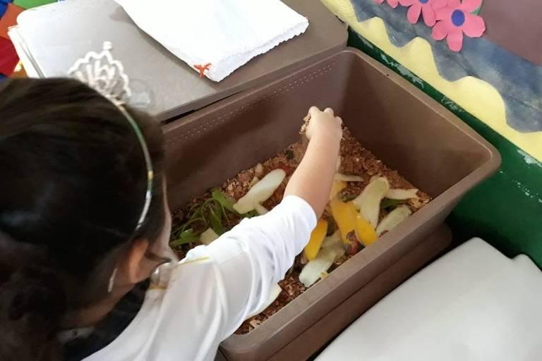 Projeto compostagem nas escolas Ilhabela Morada da Floresta