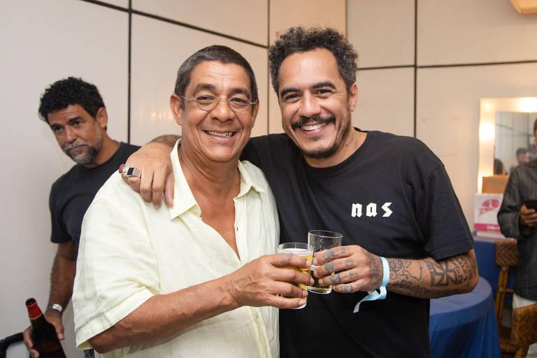 O cantor Zeca Pagodinho e o rapper Marcelo D2