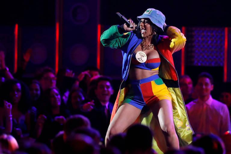 Cardi B se apresenta na 60ª edição do Grammy em Noa York