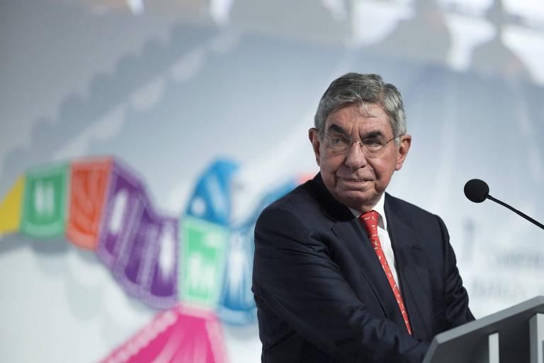 O ex-presidente da Costa Rica Oscar durante evento em Cancún, em 2015