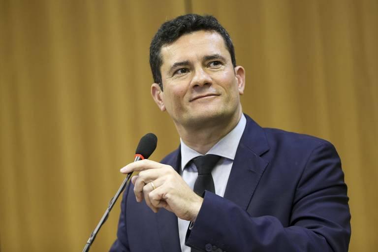O ministro da Justiça, Sergio Moro, durante entrevista coletiva, após reunião com governadores e secretários estaduais de Segurança Pública para apresentar o Projeto de Lei Anticrime