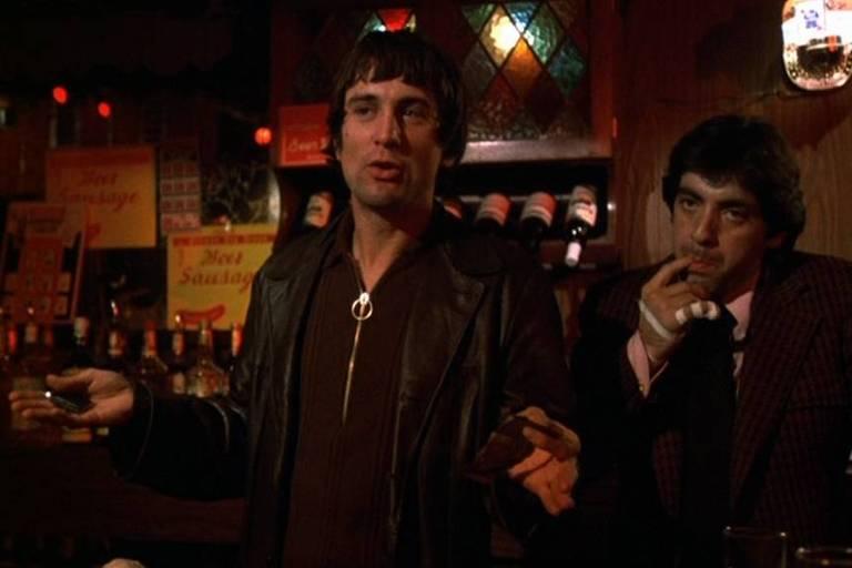 Robert De Niro e David Proval em 'Caminhos Perigosos', filme de Martin Scorsese