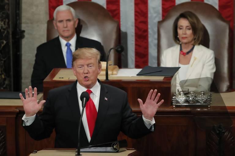 Donald Trump discursa no Congresso americano