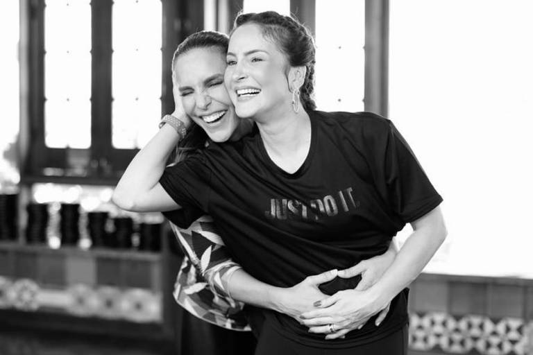Ivete Sangalo e Claudia Leitte gravam coreografia de 'Lambada'